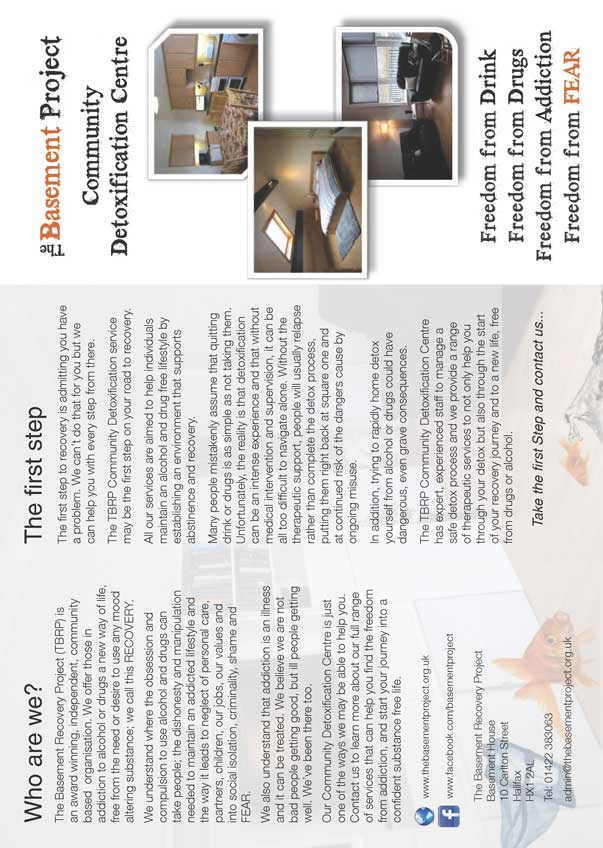 The Basement Recovery Project Community Detox Leaflet