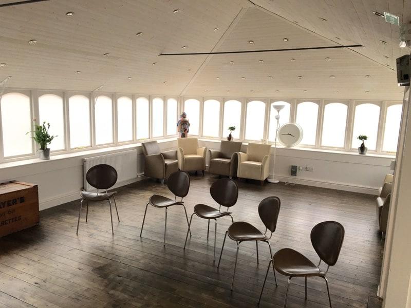 basement recovery hub huddersfield group room