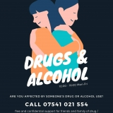 carers support line poster for drug and alcohol related issues