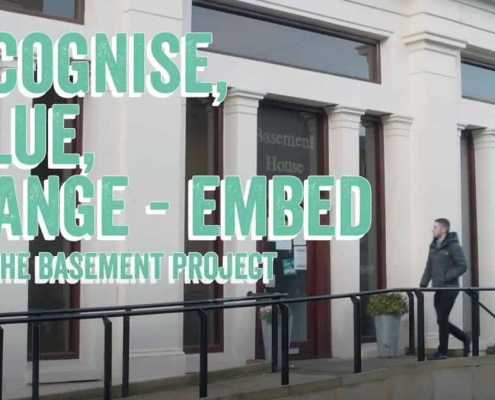 the basement recovery project video header - recognise, value, change - embed