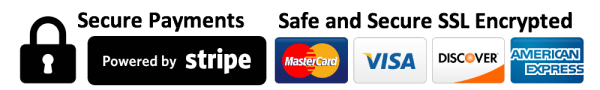 powered by stripe - credit card symbols