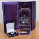 TBRP Queens Award Crystal