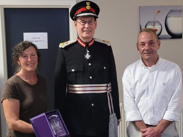 HM Lord-Lieutenant of West Yorkshire with Michelle and Michael at TBRP