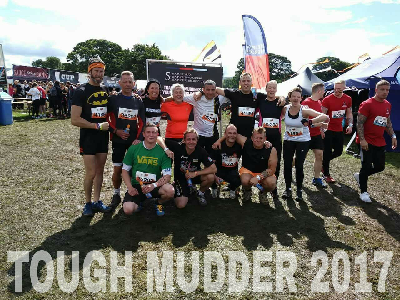 calderdale in recovery - tough mudder participants