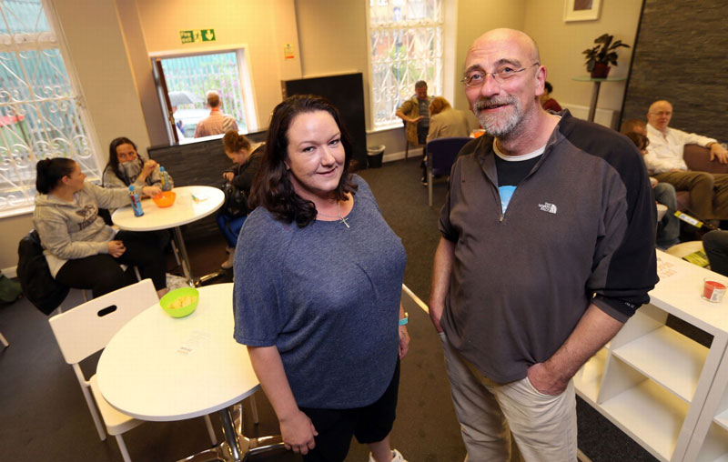 Real Junk Food Project at Union House, Union Street, Dewsbury - Jo Stocks and Paul Burr.