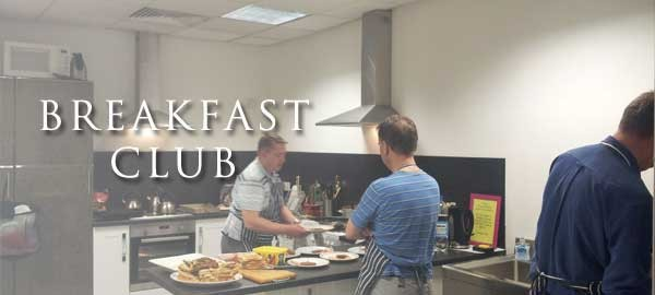 breakfast club at The Basement Recovery Project