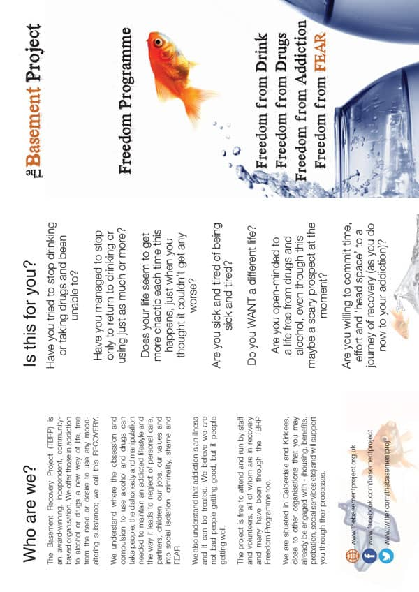 TBRP Recovery Programme Leaflet