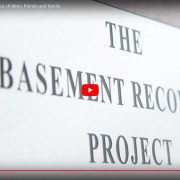 Youtube screenshot of addiction awareness video by the basement recovery project, vickie lee