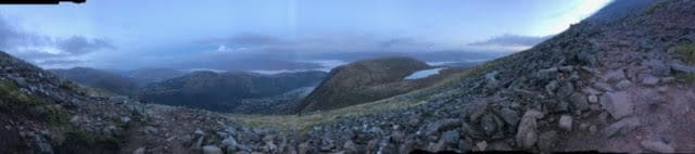 3 peak challenge - ben nevis panorama view